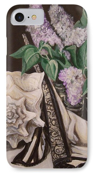 IPhone Case featuring the painting Lilac And Lingerie by Laura Aceto