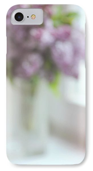 Lilac At The Window. Impressionism IPhone Case by Jenny Rainbow