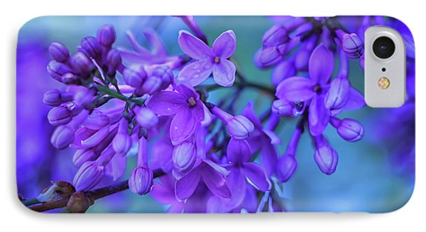 Lilac Blues IPhone Case by Elizabeth Dow