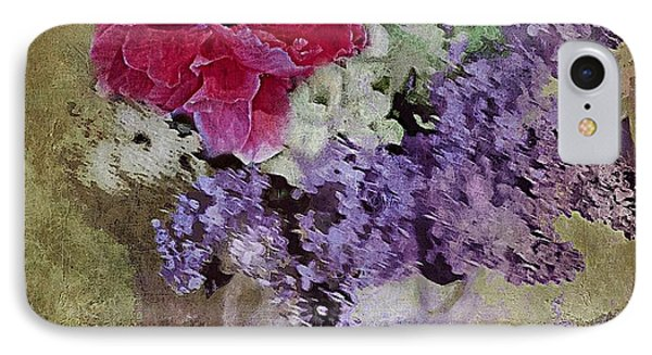 IPhone Case featuring the digital art Lilac Bouquet by Alexis Rotella