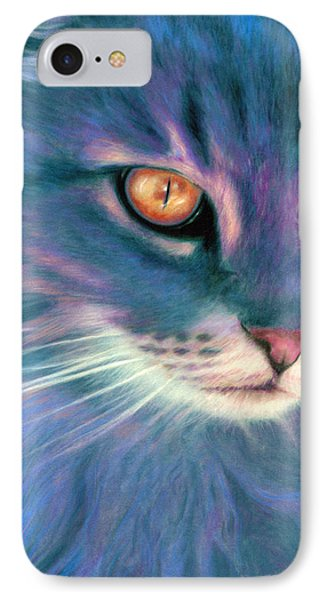 IPhone Case featuring the painting Lilac Cat by Ragen Mendenhall