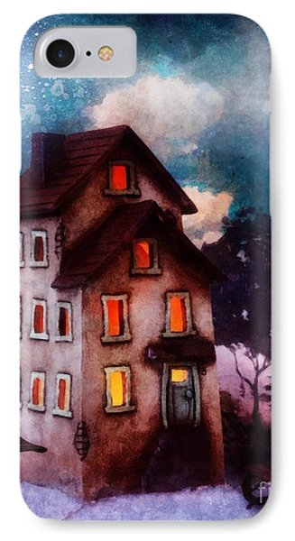 IPhone Case featuring the painting Lilac Hill by Mo T