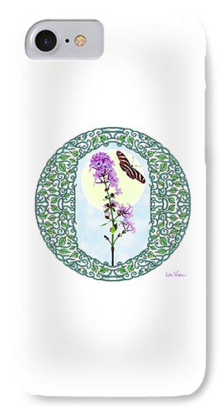 Lilac With Butterfly IPhone Case by Lise Winne