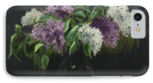 Lilacs IPhone Case by Alan Mager