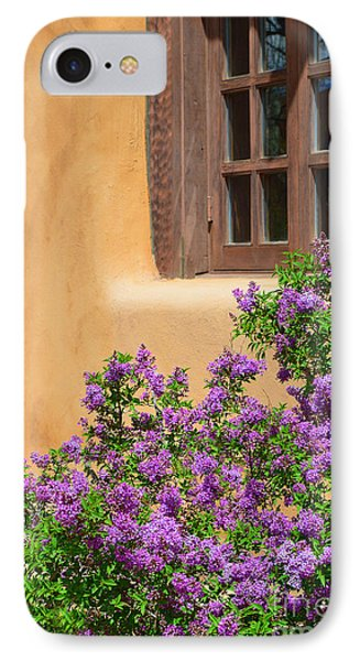 Lilacs And Adobe IPhone Case by Catherine Sherman