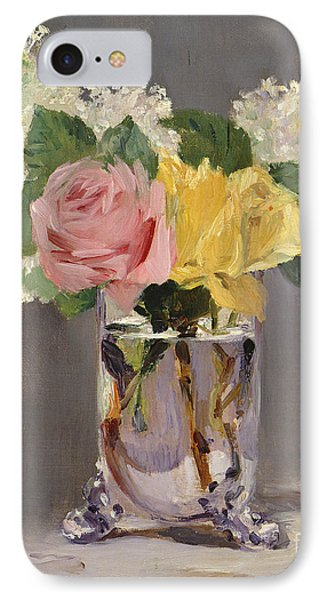 Lilacs And Roses IPhone Case by Edouard Manet