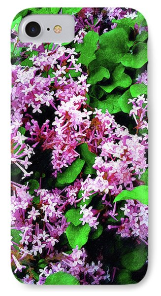IPhone Case featuring the painting Lilacs In May by Sandy MacGowan
