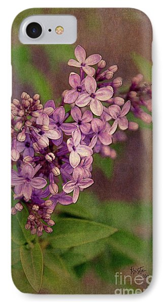 Lilacs IPhone Case by Krista-