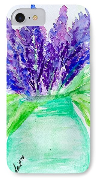 Lilacs Mason Jar  IPhone Case by Gail Nandlal