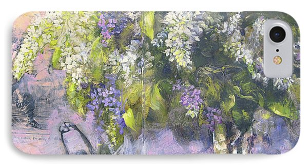 Lilacs Number One IPhone Case by Tracie Thompson