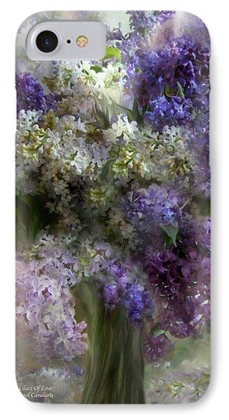 Lilacs Of Love Phone Case by Carol Cavalaris
