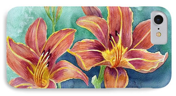 IPhone Case featuring the painting Lilies by Eleonora Perlic