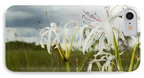 Lilies Thunder IPhone Case by Christopher L Thomley