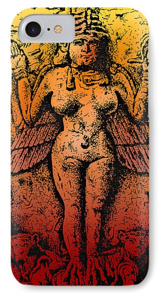 Lilith Goddess Of Death Queen Of The Night Phone Case by Larry Butterworth
