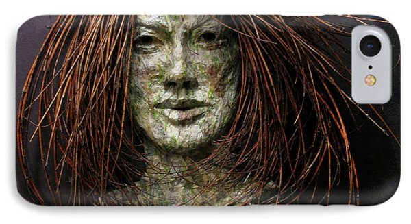 Lilly A Relief Sculpture By Adam Long IPhone Case by Adam Long