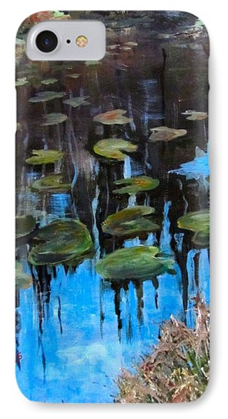 Lilly Pads And Reflections IPhone Case by Barbara O'Toole