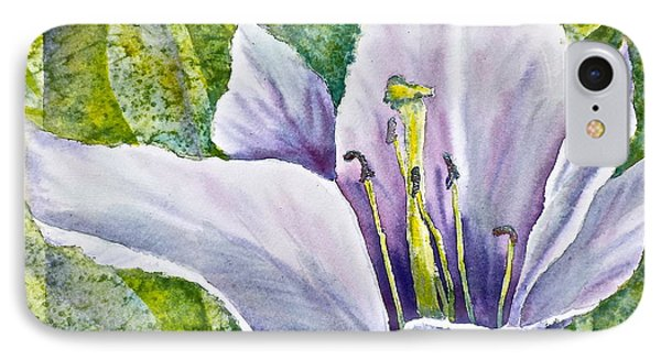 IPhone Case featuring the painting Lily In Purple by Carolyn Rosenberger