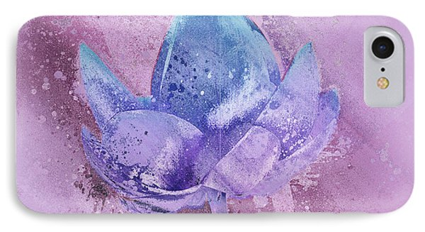 IPhone Case featuring the digital art Lily My Lovely - S113sqc77 by Variance Collections