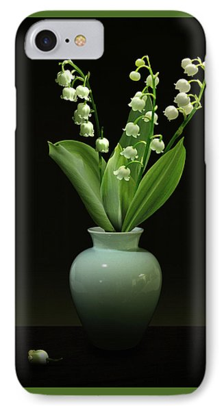 Lily Of The Valley In Vase IPhone Case