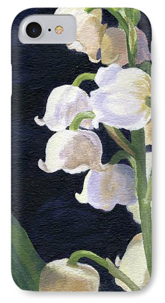 IPhone Case featuring the painting Lily Of The Valley by Lynne Reichhart