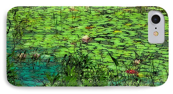 Lily Pads - An Abstract IPhone Case by David Patterson