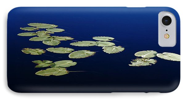 IPhone Case featuring the photograph Lily Pads Floating On River by Debbie Oppermann