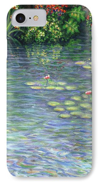 Lily Pads Triptych Part Three Phone Case by Linda Mears
