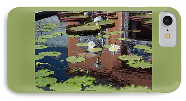 IPhone Case featuring the photograph Lily Pond Reflections by Suzanne Gaff
