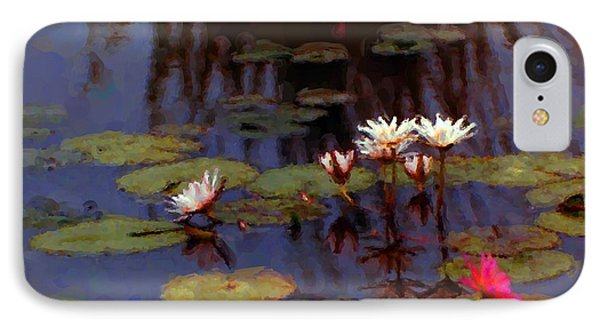 Lily Pond Watercolor IPhone Case