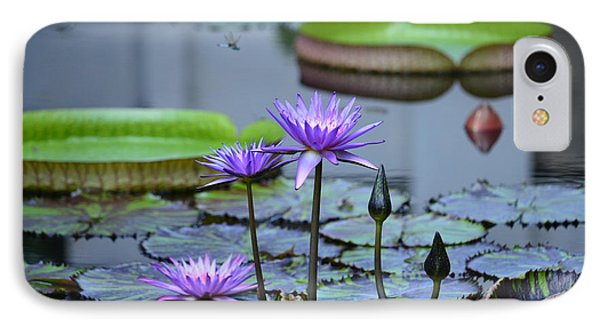 Lily Pond Wonders IPhone Case by Maria Urso