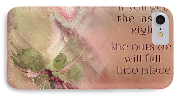 IPhone Case featuring the digital art Lily Text - Et01b by Variance Collections