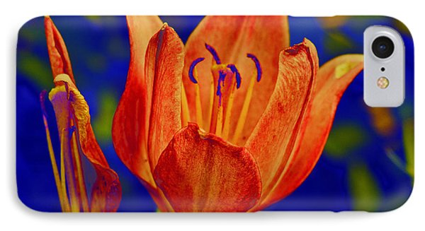 IPhone Case featuring the photograph Lily With Sabattier by Bill Barber