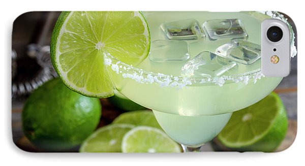 IPhone Case featuring the photograph Lime Margarita Drink by Teri Virbickis