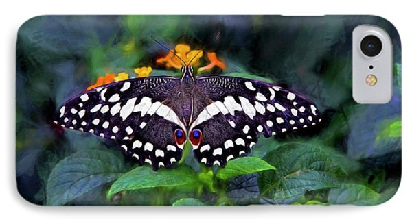IPhone Case featuring the photograph Lime Swallow Tail by James Steele