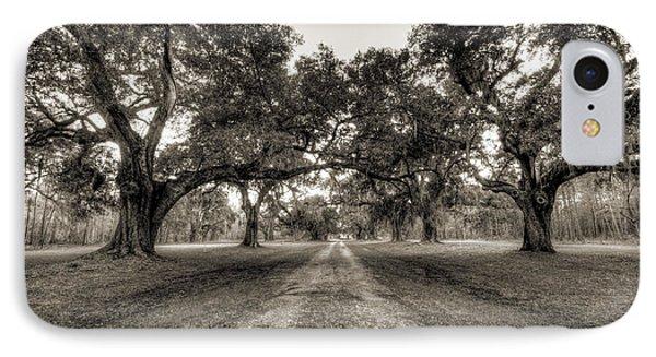 Limerick Plantation Live Oaks IPhone Case by Dustin K Ryan