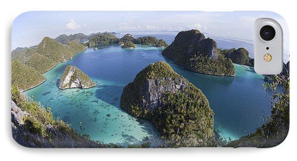 Limestone Islands Surround A Lagoon IPhone Case by Ethan Daniels