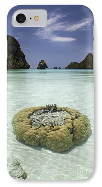 Limestone Islands Surround Corals IPhone Case by Ethan Daniels