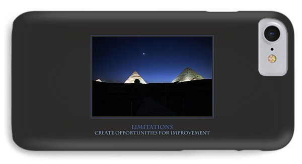Limitations Create Opportunities For Improvement IPhone Case by Donna Corless