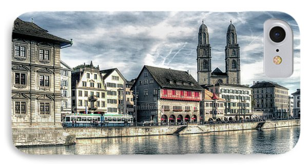 IPhone Case featuring the photograph Limmat Riverfront by Jim Hill
