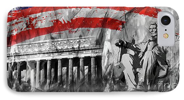 IPhone Case featuring the painting Lincoln Abe by Gull G