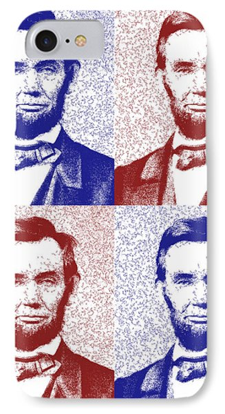Lincoln Abstract America IPhone Case by Greg Collins