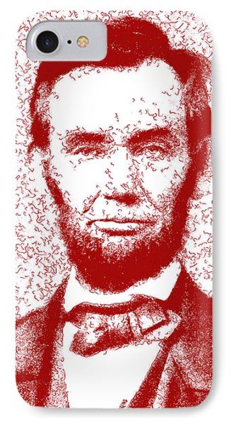 Lincoln Abstract Red IPhone Case by Greg Collins