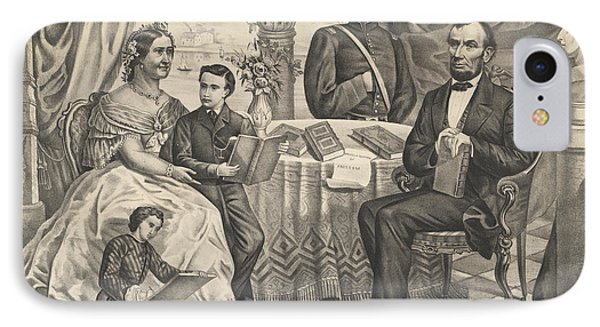 Lincoln And His Family IPhone Case by American School