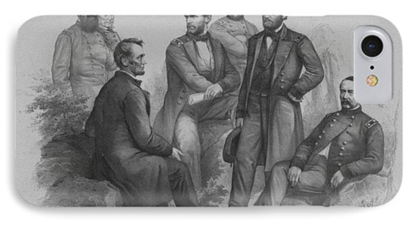 Lincoln And His Generals Phone Case by War Is Hell Store