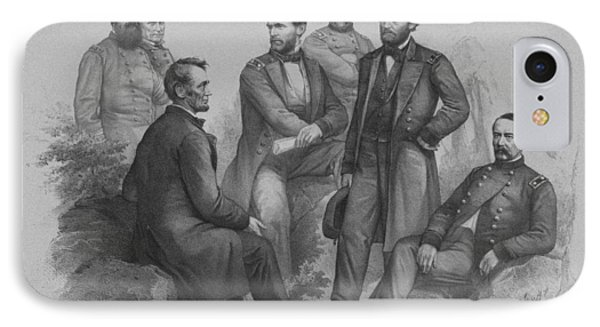 Lincoln And His Generals IPhone Case
