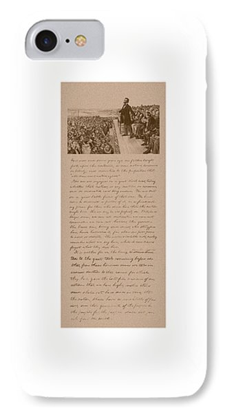 Lincoln And The Gettysburg Address Phone Case by War Is Hell Store