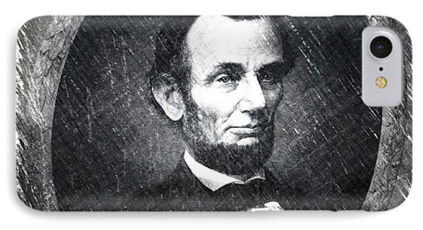 Lincoln Bw Portrait IPhone Case
