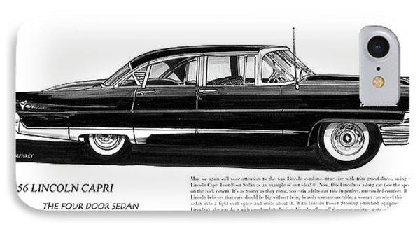 Lincoln Capri 1956 IPhone Case by Jack Pumphrey