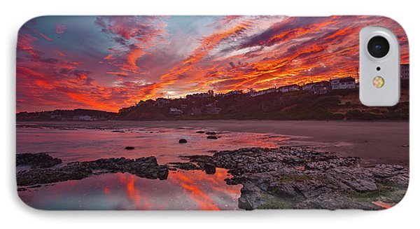 Lincoln City Sunrise IPhone Case by Darren White