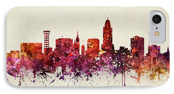 Lincoln Cityscape 09 IPhone Case by Aged Pixel